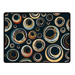 Seamless Cubes Texture Circle Black Orange Red Color Rainbow Double Sided Fleece Blanket (small)  by Alisyart