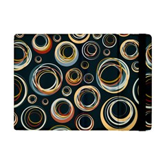 Seamless Cubes Texture Circle Black Orange Red Color Rainbow Ipad Mini 2 Flip Cases by Alisyart