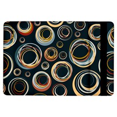 Seamless Cubes Texture Circle Black Orange Red Color Rainbow Ipad Air Flip