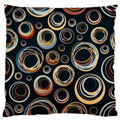 Seamless Cubes Texture Circle Black Orange Red Color Rainbow Large Flano Cushion Case (one Side) by Alisyart