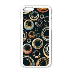 Seamless Cubes Texture Circle Black Orange Red Color Rainbow Apple Iphone 6/6s White Enamel Case by Alisyart