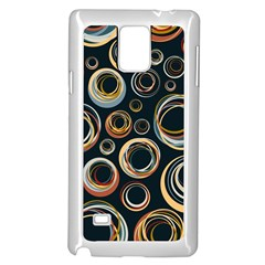 Seamless Cubes Texture Circle Black Orange Red Color Rainbow Samsung Galaxy Note 4 Case (white) by Alisyart