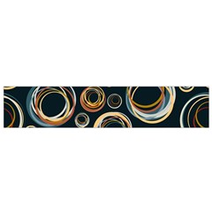 Seamless Cubes Texture Circle Black Orange Red Color Rainbow Flano Scarf (small) by Alisyart