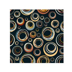 Seamless Cubes Texture Circle Black Orange Red Color Rainbow Small Satin Scarf (square)