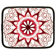 Prismatic Flower Floral Star Gold Red Orange Netbook Case (xl)  by Alisyart