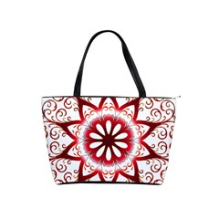 Prismatic Flower Floral Star Gold Red Orange Shoulder Handbags by Alisyart
