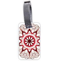 Prismatic Flower Floral Star Gold Red Orange Luggage Tags (two Sides) by Alisyart