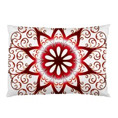 Prismatic Flower Floral Star Gold Red Orange Pillow Case (two Sides) by Alisyart