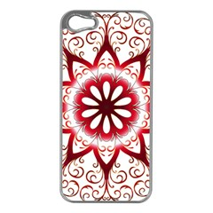 Prismatic Flower Floral Star Gold Red Orange Apple Iphone 5 Case (silver) by Alisyart