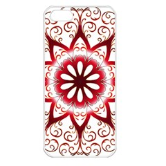 Prismatic Flower Floral Star Gold Red Orange Apple Iphone 5 Seamless Case (white) by Alisyart