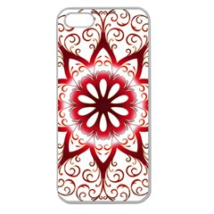 Prismatic Flower Floral Star Gold Red Orange Apple Seamless Iphone 5 Case (clear) by Alisyart