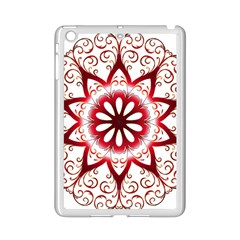 Prismatic Flower Floral Star Gold Red Orange Ipad Mini 2 Enamel Coated Cases