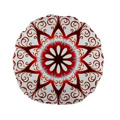 Prismatic Flower Floral Star Gold Red Orange Standard 15  Premium Round Cushions by Alisyart