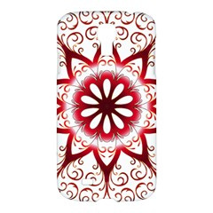 Prismatic Flower Floral Star Gold Red Orange Samsung Galaxy S4 I9500/i9505 Hardshell Case by Alisyart