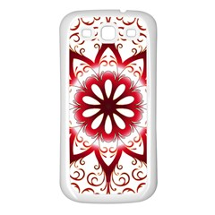 Prismatic Flower Floral Star Gold Red Orange Samsung Galaxy S3 Back Case (white) by Alisyart