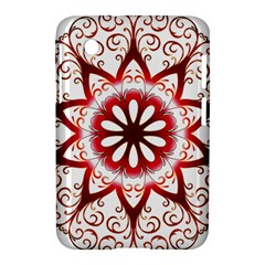 Prismatic Flower Floral Star Gold Red Orange Samsung Galaxy Tab 2 (7 ) P3100 Hardshell Case  by Alisyart