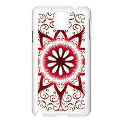 Prismatic Flower Floral Star Gold Red Orange Samsung Galaxy Note 3 N9005 Case (white) by Alisyart