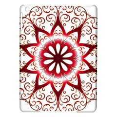 Prismatic Flower Floral Star Gold Red Orange Ipad Air Hardshell Cases by Alisyart