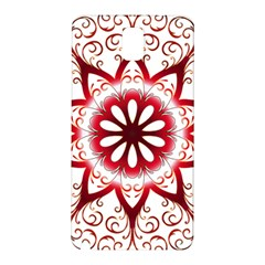 Prismatic Flower Floral Star Gold Red Orange Samsung Galaxy Note 3 N9005 Hardshell Back Case by Alisyart