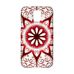 Prismatic Flower Floral Star Gold Red Orange Samsung Galaxy S5 Hardshell Case  by Alisyart