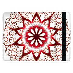 Prismatic Flower Floral Star Gold Red Orange Samsung Galaxy Tab Pro 12 2  Flip Case