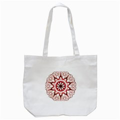 Prismatic Flower Floral Star Gold Red Orange Tote Bag (white) by Alisyart