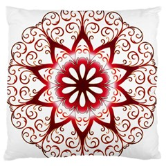 Prismatic Flower Floral Star Gold Red Orange Large Flano Cushion Case (one Side) by Alisyart
