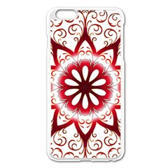 Prismatic Flower Floral Star Gold Red Orange Apple Iphone 6 Plus/6s Plus Enamel White Case by Alisyart