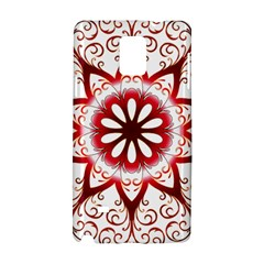 Prismatic Flower Floral Star Gold Red Orange Samsung Galaxy Note 4 Hardshell Case by Alisyart