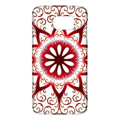 Prismatic Flower Floral Star Gold Red Orange Galaxy S6