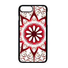 Prismatic Flower Floral Star Gold Red Orange Apple Iphone 7 Plus Seamless Case (black)