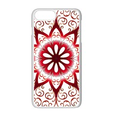 Prismatic Flower Floral Star Gold Red Orange Apple Iphone 7 Plus White Seamless Case by Alisyart