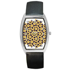 Star Orange Blue Barrel Style Metal Watch by Alisyart