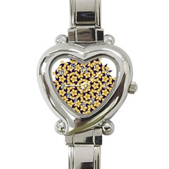 Star Orange Blue Heart Italian Charm Watch by Alisyart