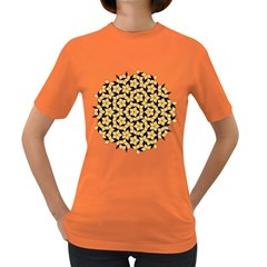 Star Orange Blue Women s Dark T-shirt by Alisyart