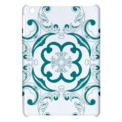 Vintage Floral Star Flower Blue Apple Ipad Mini Hardshell Case by Alisyart