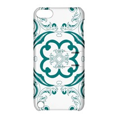 Vintage Floral Star Flower Blue Apple Ipod Touch 5 Hardshell Case With Stand by Alisyart