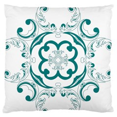 Vintage Floral Star Flower Blue Standard Flano Cushion Case (one Side) by Alisyart