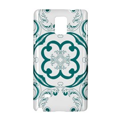 Vintage Floral Star Flower Blue Samsung Galaxy Note 4 Hardshell Case by Alisyart
