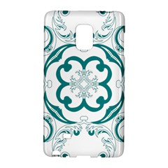 Vintage Floral Star Flower Blue Galaxy Note Edge by Alisyart