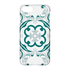 Vintage Floral Star Flower Blue Apple Iphone 7 Hardshell Case by Alisyart