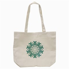 Vintage Floral Star Blue Green Tote Bag (cream) by Alisyart