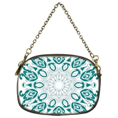 Vintage Floral Star Blue Green Chain Purses (one Side)