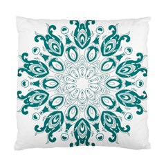 Vintage Floral Star Blue Green Standard Cushion Case (two Sides) by Alisyart