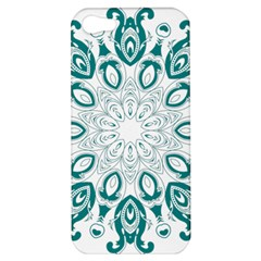 Vintage Floral Star Blue Green Apple Iphone 5 Hardshell Case by Alisyart