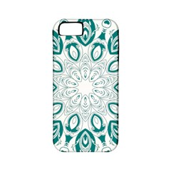 Vintage Floral Star Blue Green Apple Iphone 5 Classic Hardshell Case (pc+silicone) by Alisyart