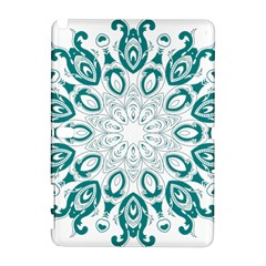 Vintage Floral Star Blue Green Galaxy Note 1 by Alisyart