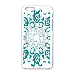 Vintage Floral Star Blue Green Apple Iphone 6/6s White Enamel Case by Alisyart