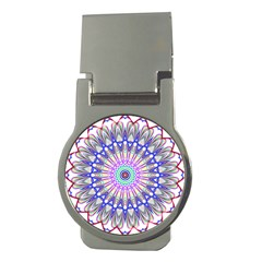 Prismatic Line Star Flower Rainbow Money Clips (round)  by Alisyart