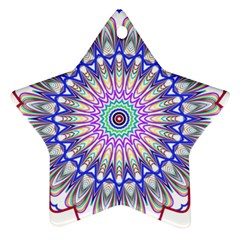 Prismatic Line Star Flower Rainbow Star Ornament (two Sides) by Alisyart